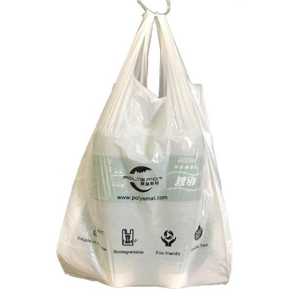 water soluble plastic vest bag